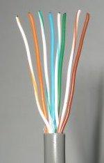 расположение проводов в прямом кабеле